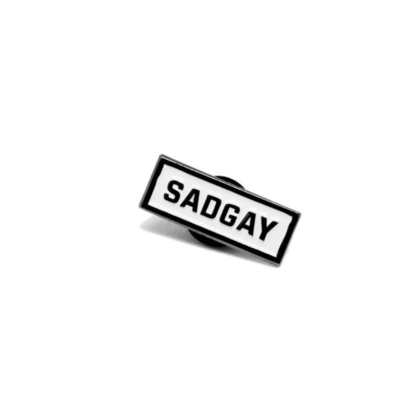 sadgay enamel pin (front)
