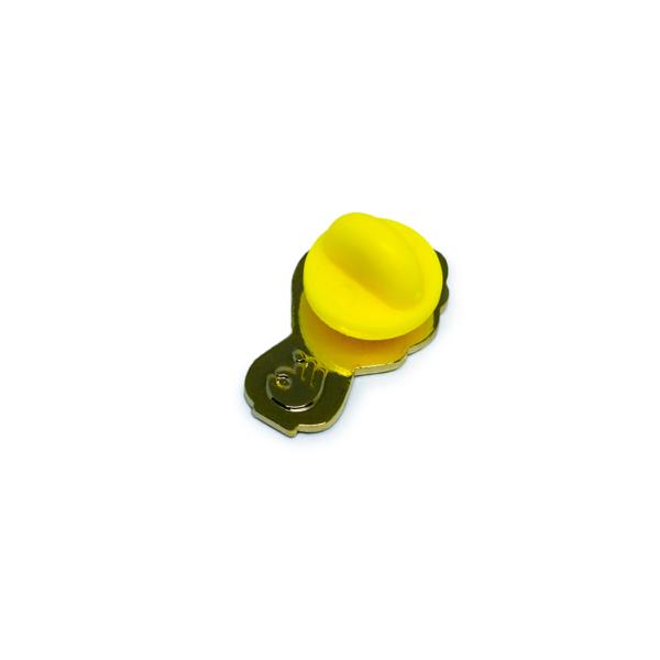 bok choy enamel pin (back)