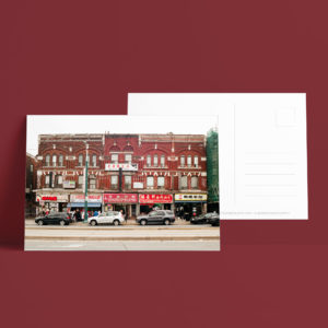 Postcard - Red Building