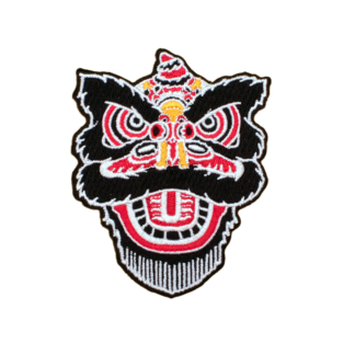 lion dance iron on patch
