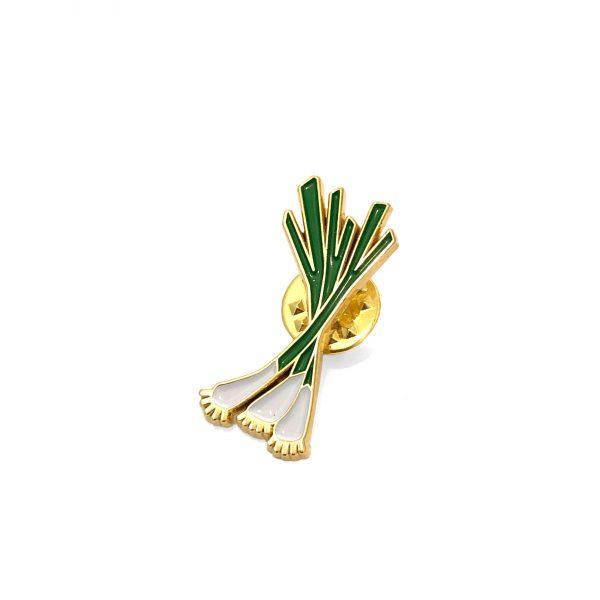 Green Onion Enamel Pin